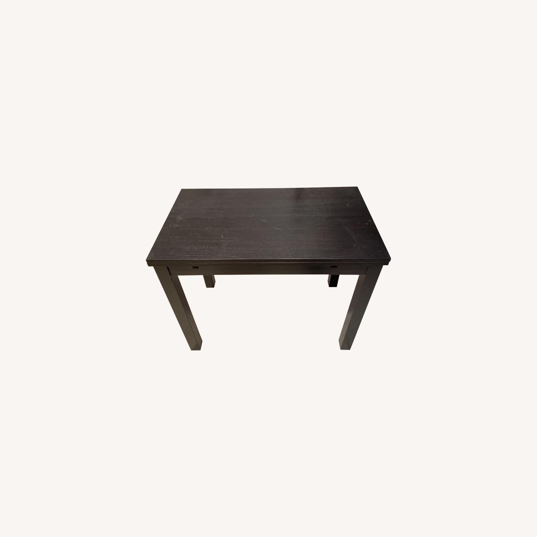 IKEA Expandable Black Desk - image-0