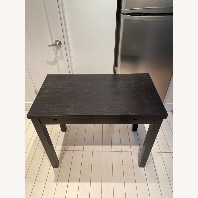 IKEA Expandable Black Desk - image-1