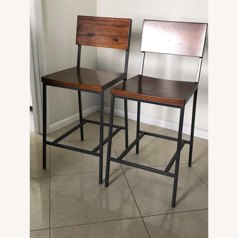 2 West Elm Bar Counter Stools - image-1