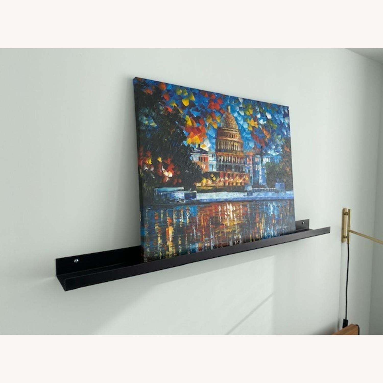 CB2 Metal Gunmetal Wall Shelf 48'' - image-1