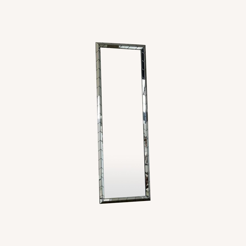 West Elm Chevron Tile Floor Mirror - image-0