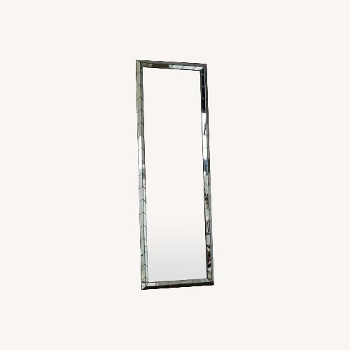 Used West Elm Chevron Tile Floor Mirror for sale on AptDeco