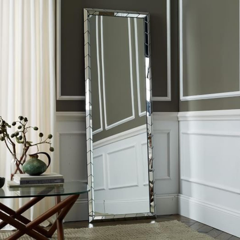 West Elm Chevron Tile Floor Mirror - image-1