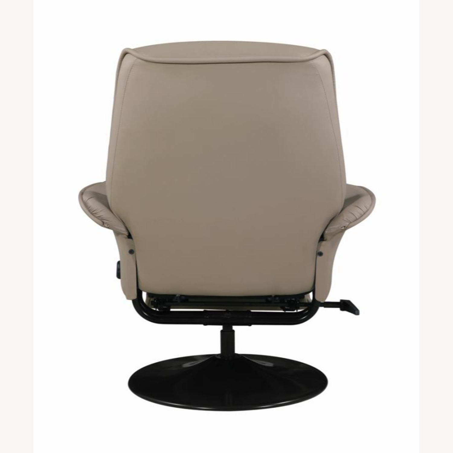 Swivel Recliner In Classic Beige Leatherette - image-4