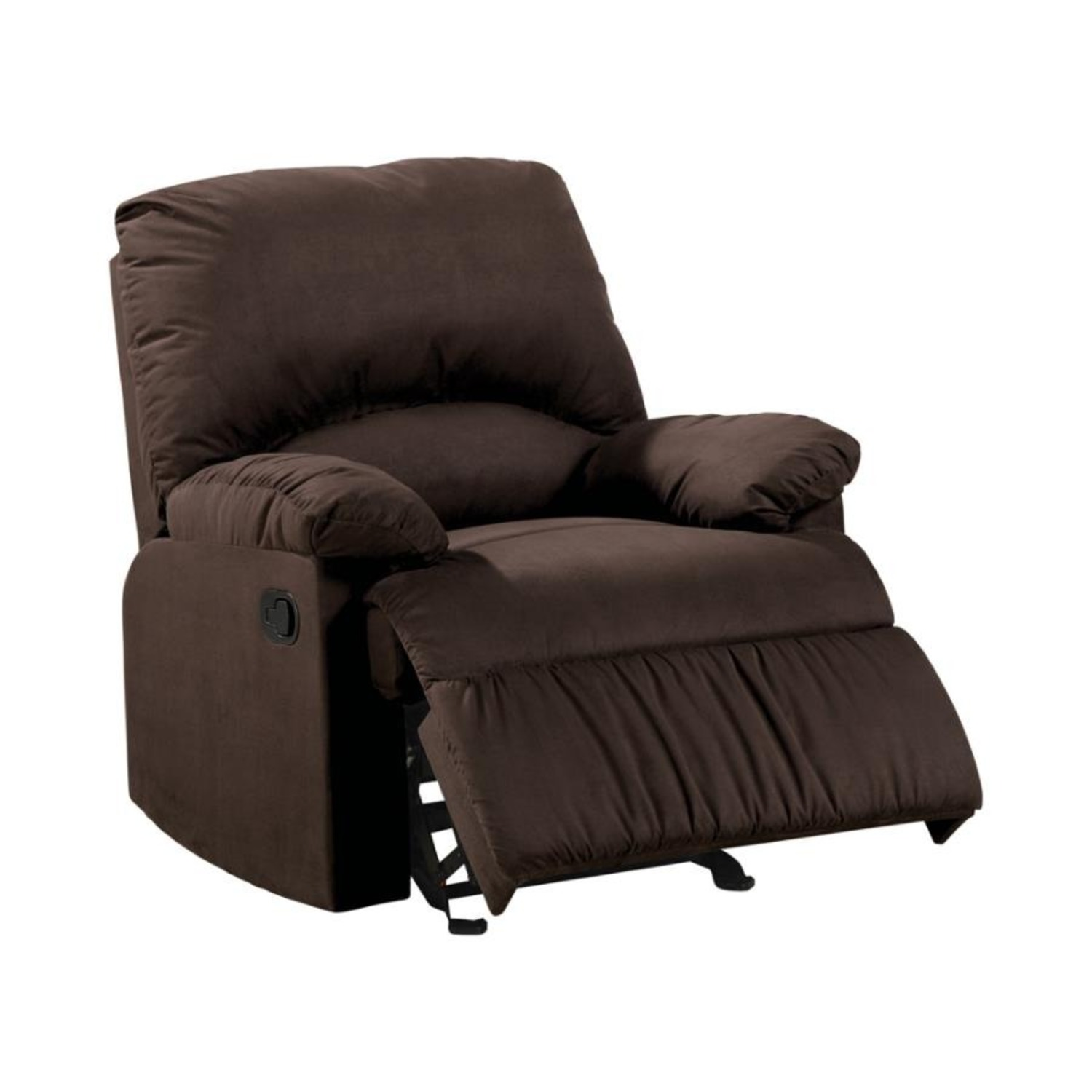 Glider Recliner In Chocolate Microfiber Upholstery - image-0