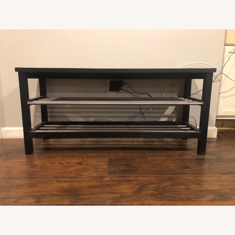 IKEA TJUSIG Bench with Shoe Storage - image-2