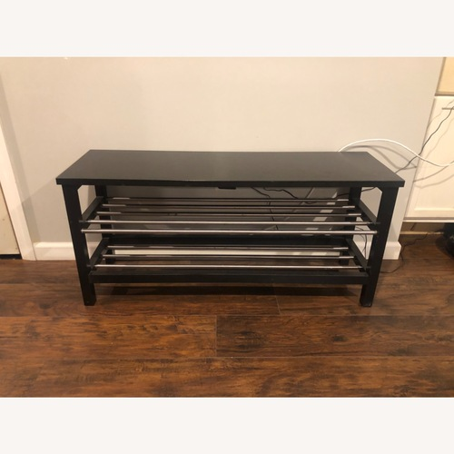 Used IKEA TJUSIG Bench with Shoe Storage for sale on AptDeco