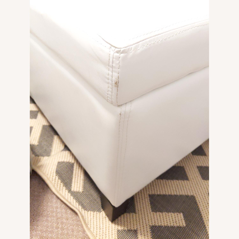 Wayfair Santoro Ivory Faux Leather Storage Bench - image-3