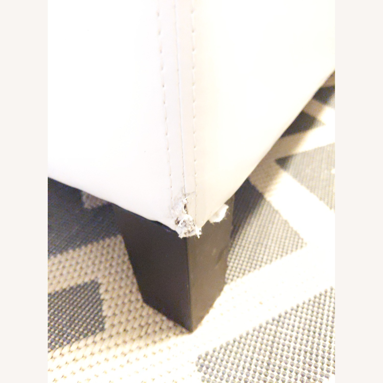 Wayfair Santoro Ivory Faux Leather Storage Bench - image-4