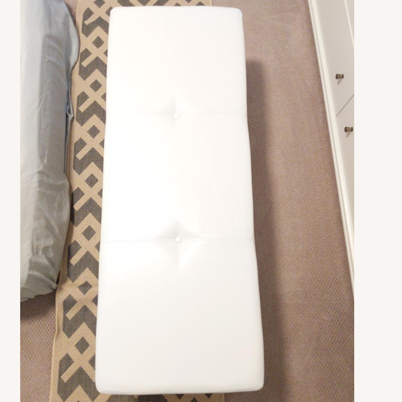 Wayfair Santoro Ivory Faux Leather Storage Bench - image-6