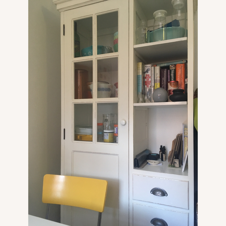 Crate & Barrel Farmhouse Style Wood China Cabinet - image-4