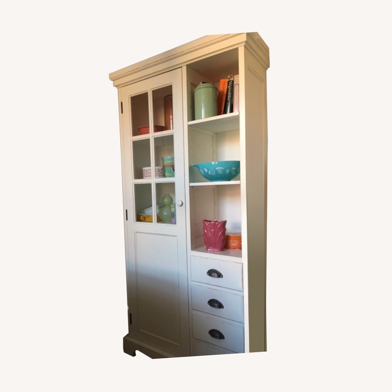 Crate & Barrel Farmhouse Style Wood China Cabinet - image-0