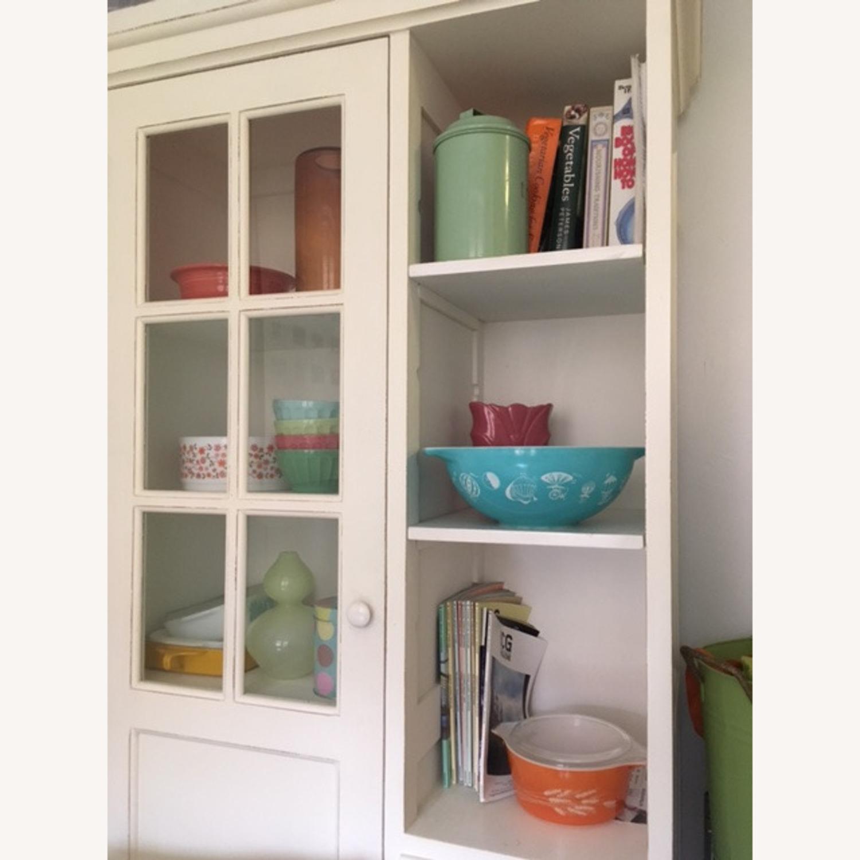 Crate & Barrel Farmhouse Style Wood China Cabinet - image-1