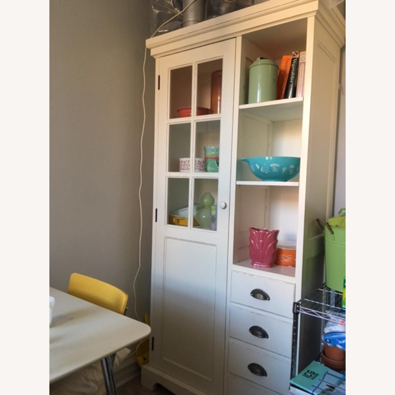 Crate & Barrel Farmhouse Style Wood China Cabinet - image-3
