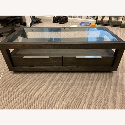 Used Joss & Main Paralimni Coffee Table w/ Storage for sale on AptDeco
