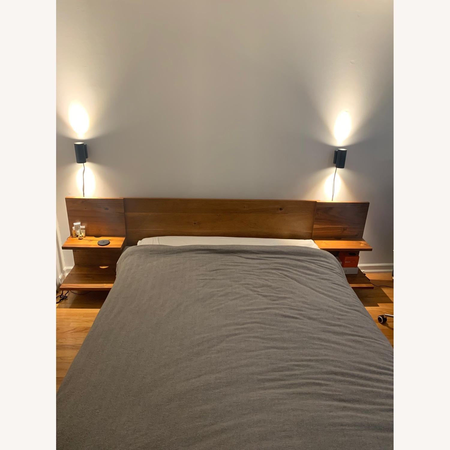 CB2 Modern wood Queen Bed Frame - image-3