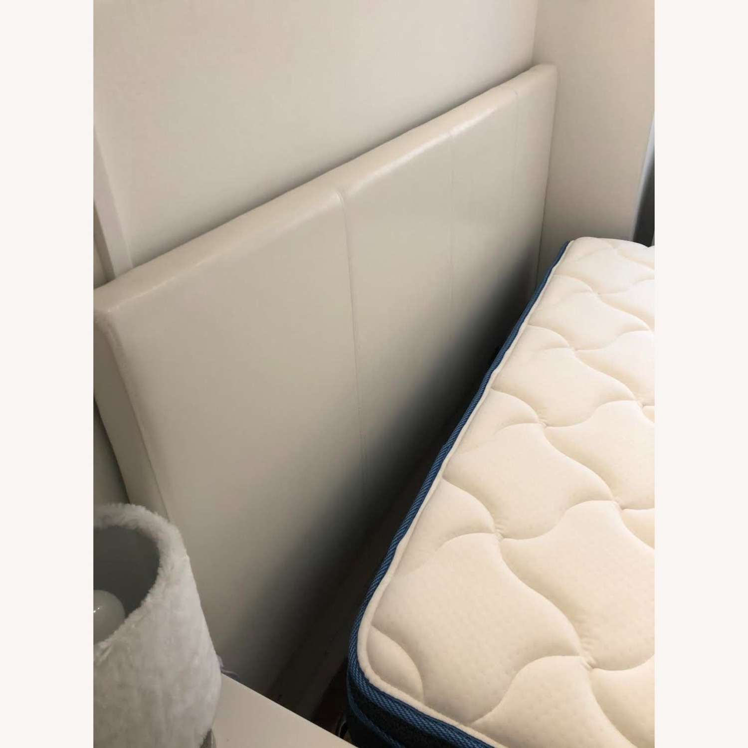 White Queen Size Headboard - image-1