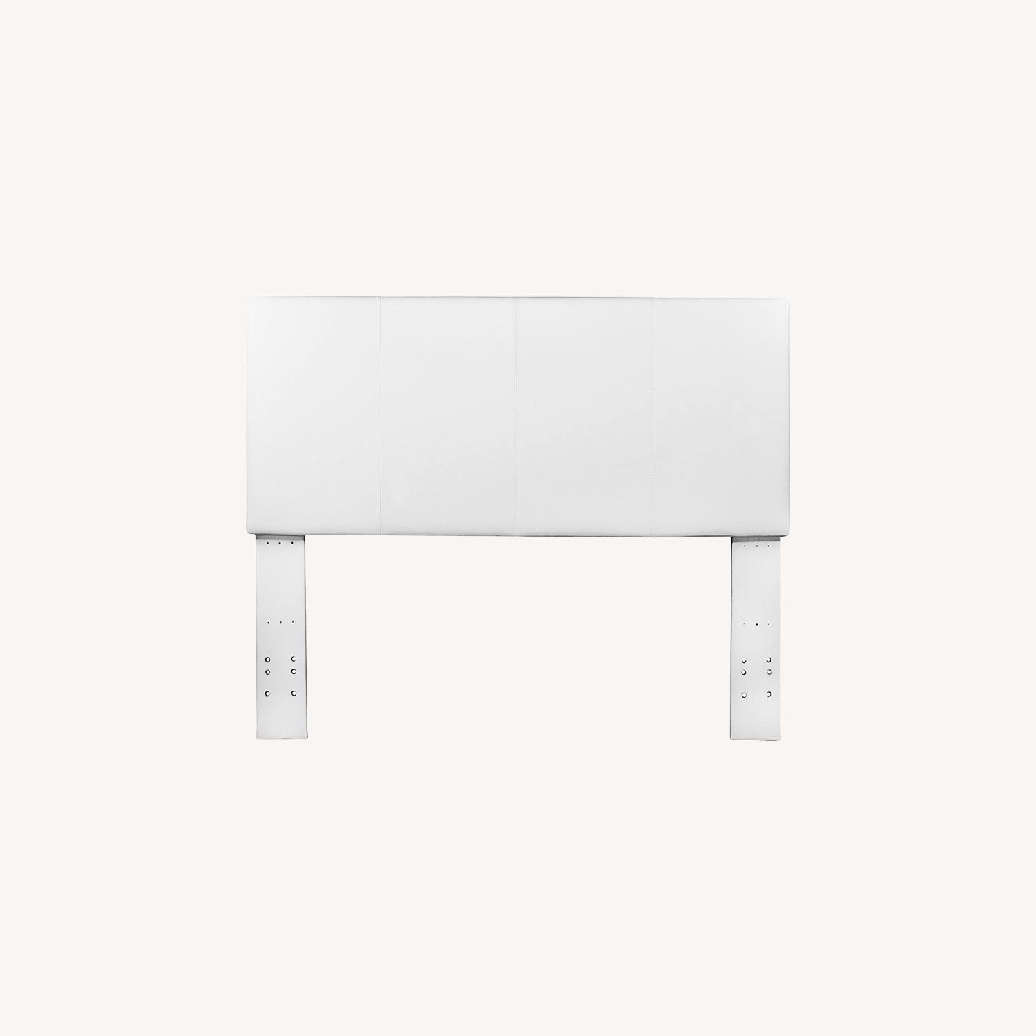 White Queen Size Headboard - image-0