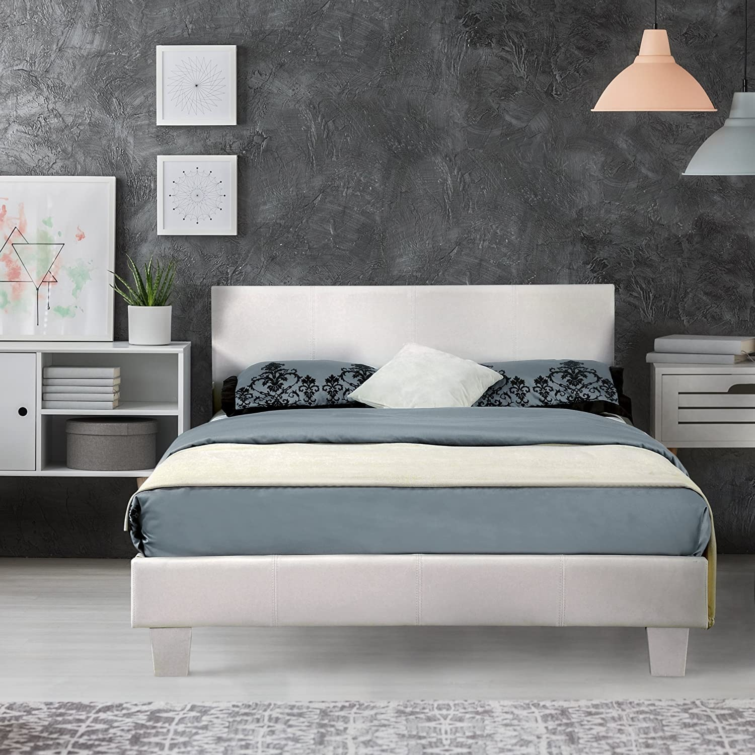 White Queen Size Headboard - image-3