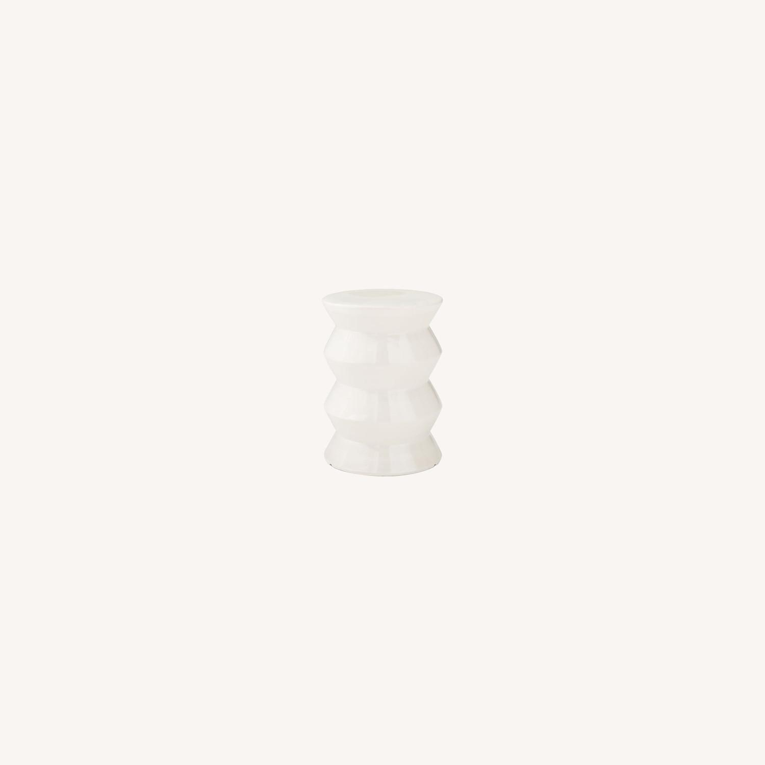 West Elm Cami Ivory Side Table - image-0