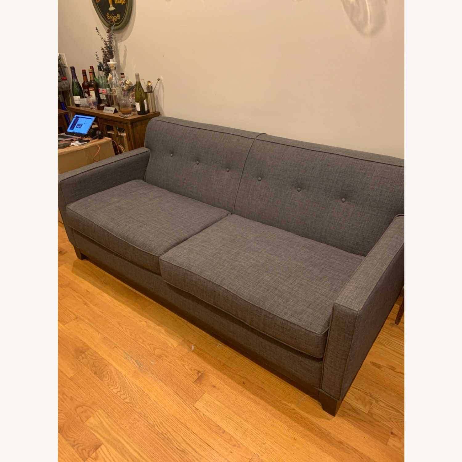 Raymour & Flanigan Mid Century Sofa/Couch - image-1