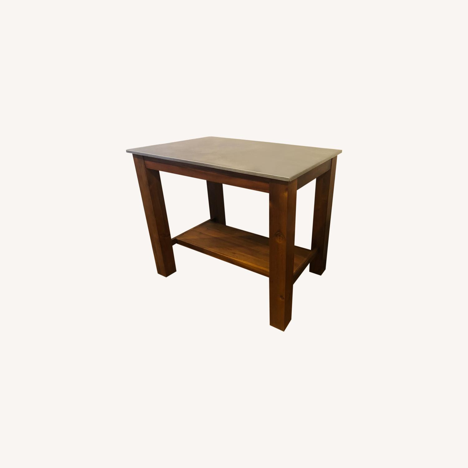 West Elm Rustic Kitchen Island - image-0