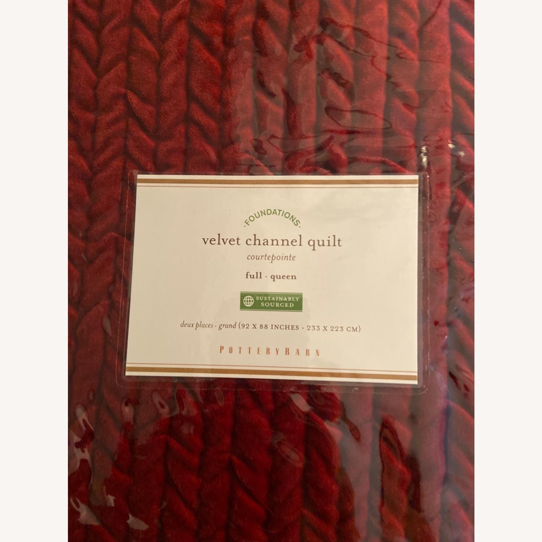 Pottery Barn Velvet Quilt (Full/Queen) - image-1