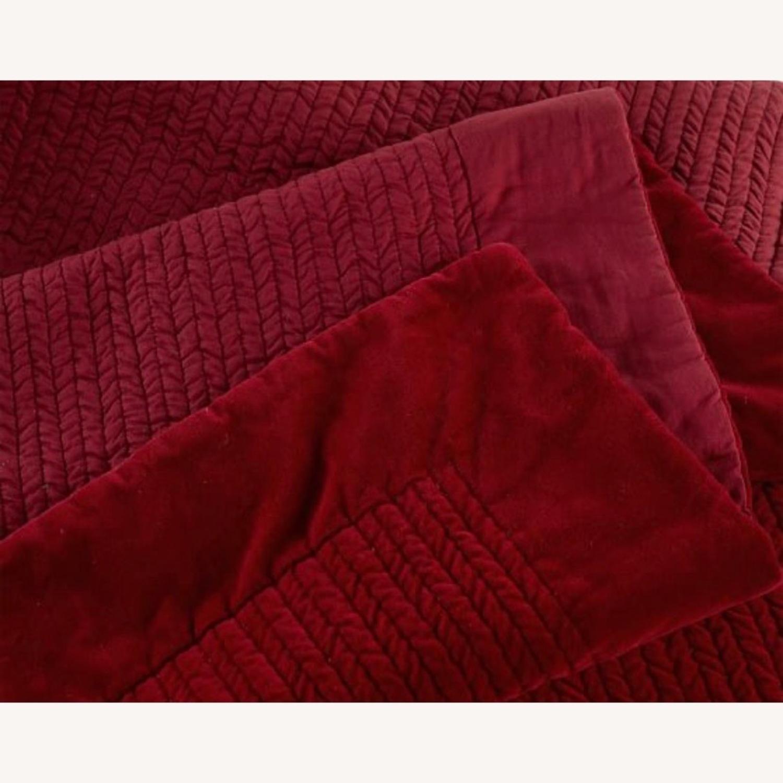 Pottery Barn Velvet Quilt (Full/Queen) - image-3