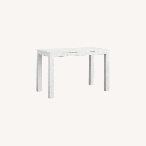 Used West Elm White Parsons Desk for sale on AptDeco
