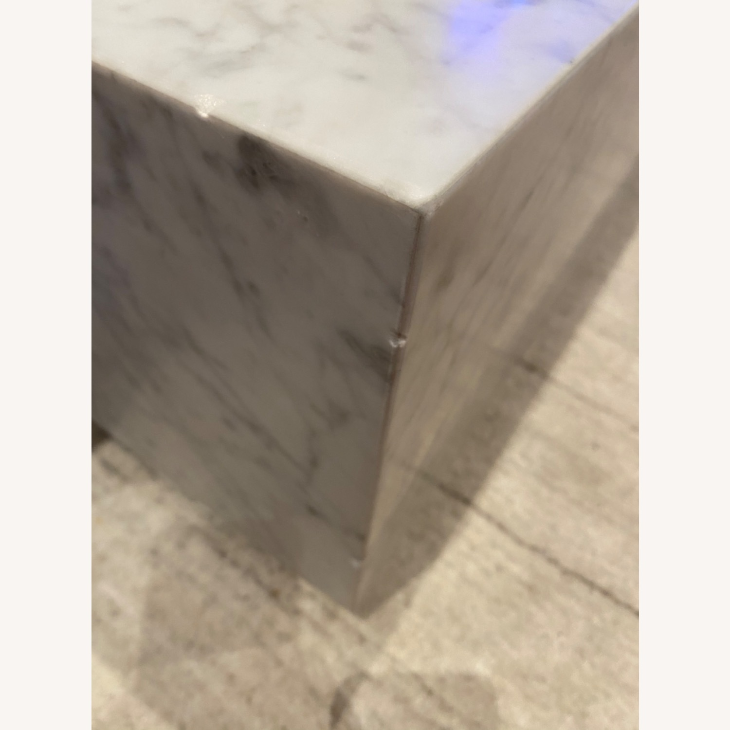 Restoration Hardware White Marble Coffee Table - image-2