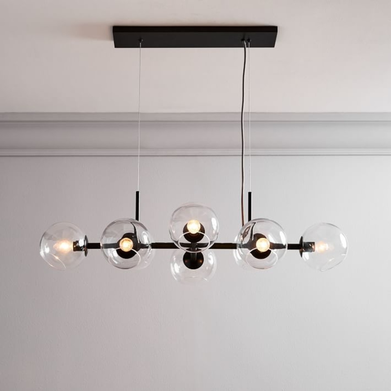West Elm Staggered Glass Chandelier - image-0