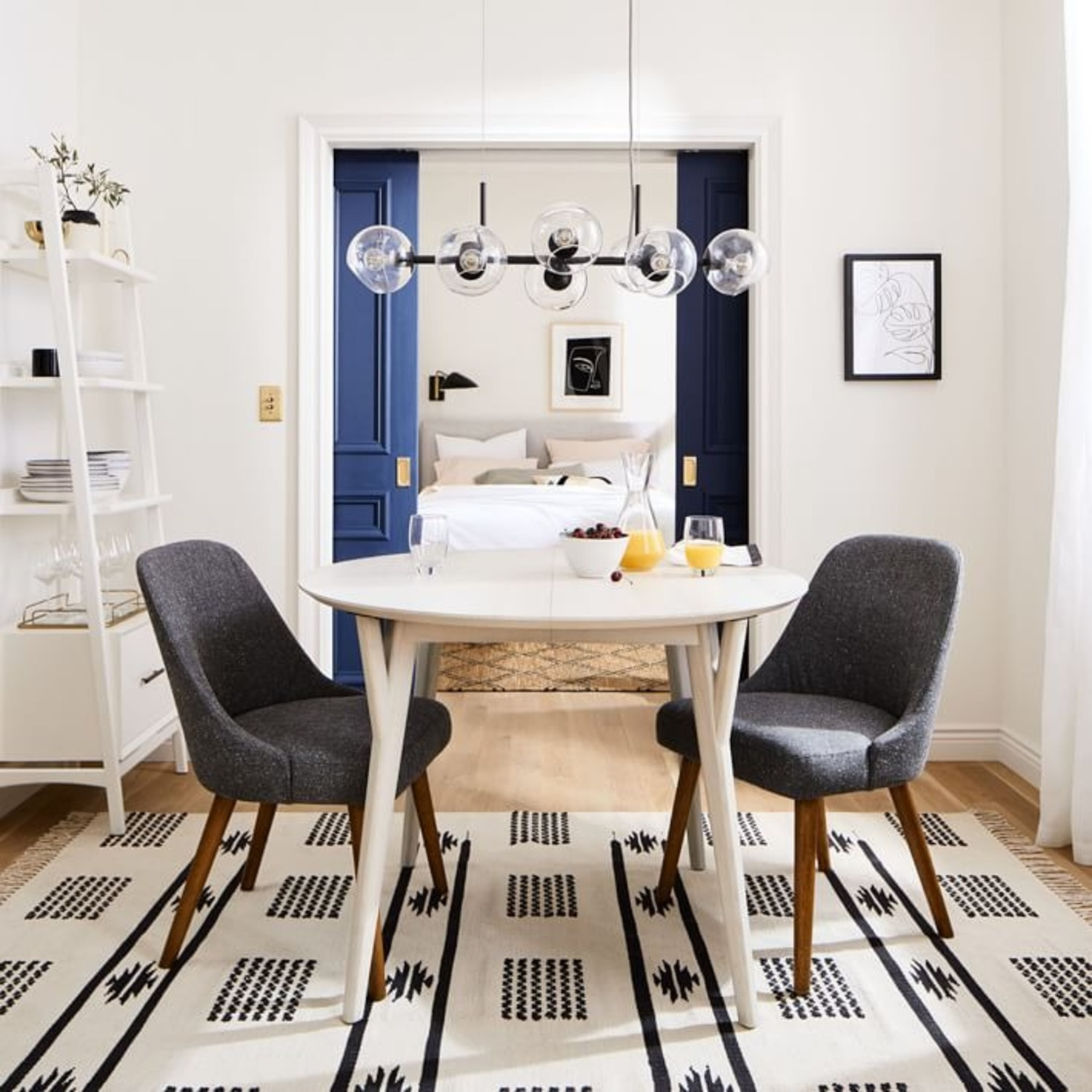 West Elm Staggered Glass Chandelier - image-2