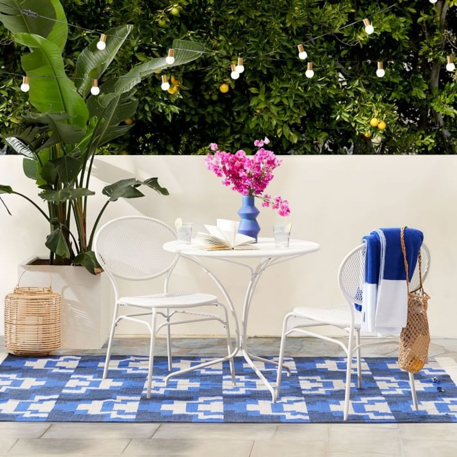 West Elm Kyra Outdoor Bistro Table - image-1