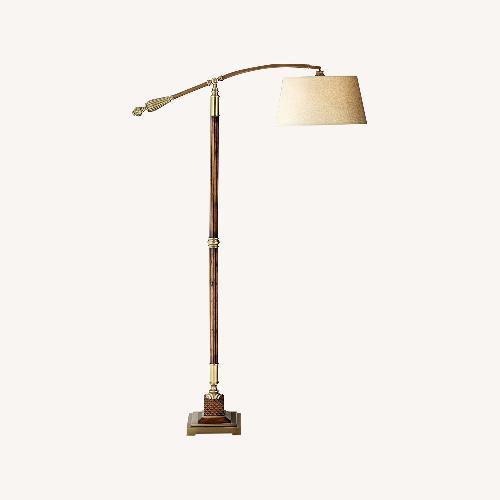 Used Uttermost Monroe Adjustable Arc Floor Lamp for sale on AptDeco