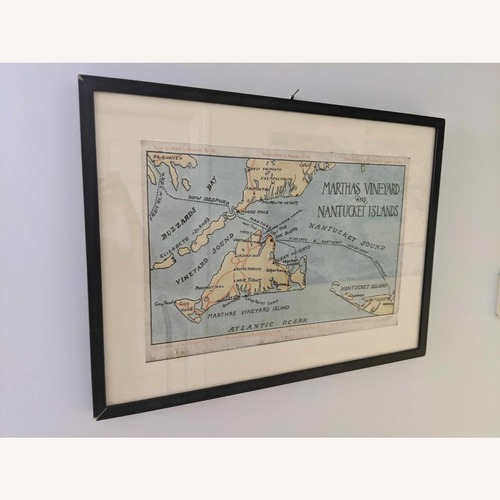 Used One Kings Lane Marthas Vineyard Map Wall Art for sale on AptDeco