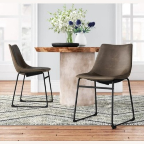Used Joss & Main Bamey Upholstered Side Chair (Set of 2) for sale on AptDeco