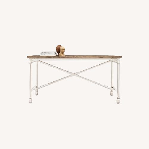 Used Restoration Hardware Reclaimed Wood and Metal Desk for sale on AptDeco