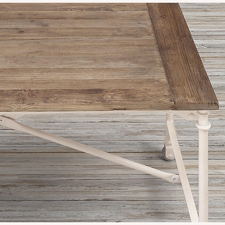 Restoration Hardware Reclaimed Wood and Metal Desk - image-3