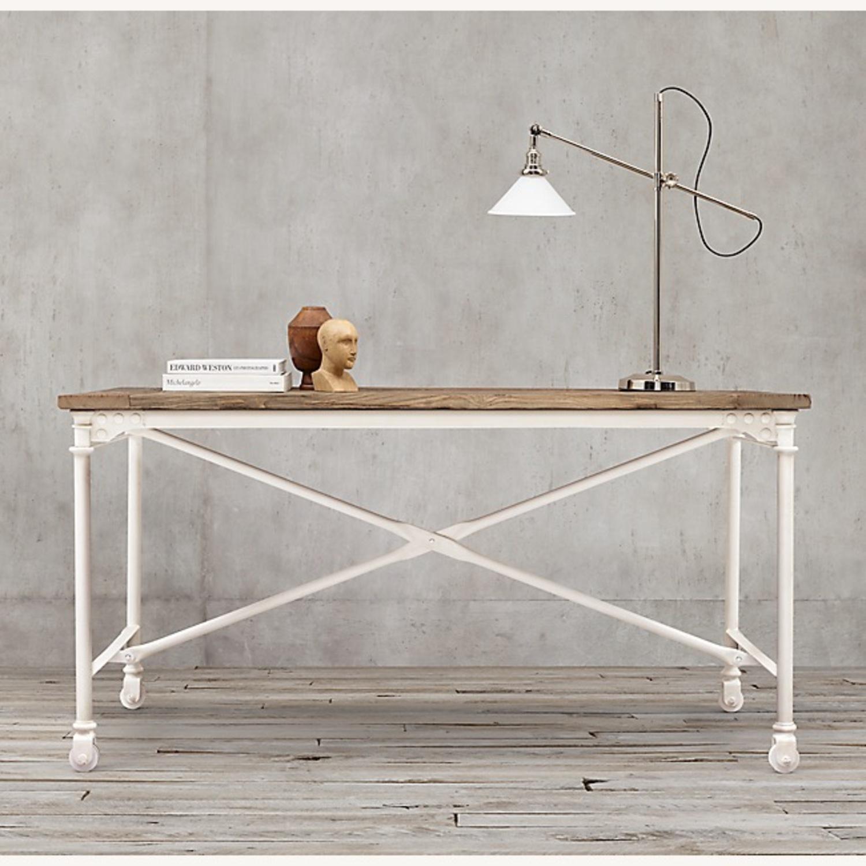 Restoration Hardware Reclaimed Wood and Metal Desk - image-1