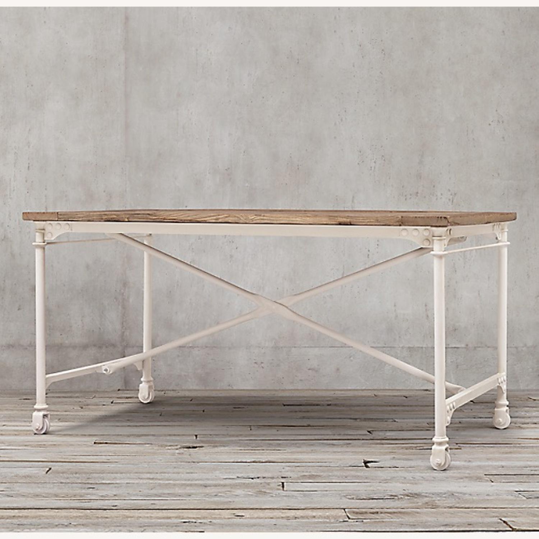 Restoration Hardware Reclaimed Wood and Metal Desk - image-2