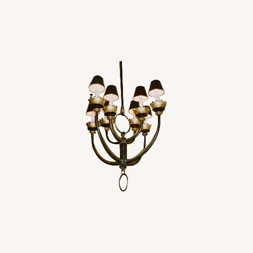 Used Mattaliano Hand Forged Wrought Iron Chandelier for sale on AptDeco