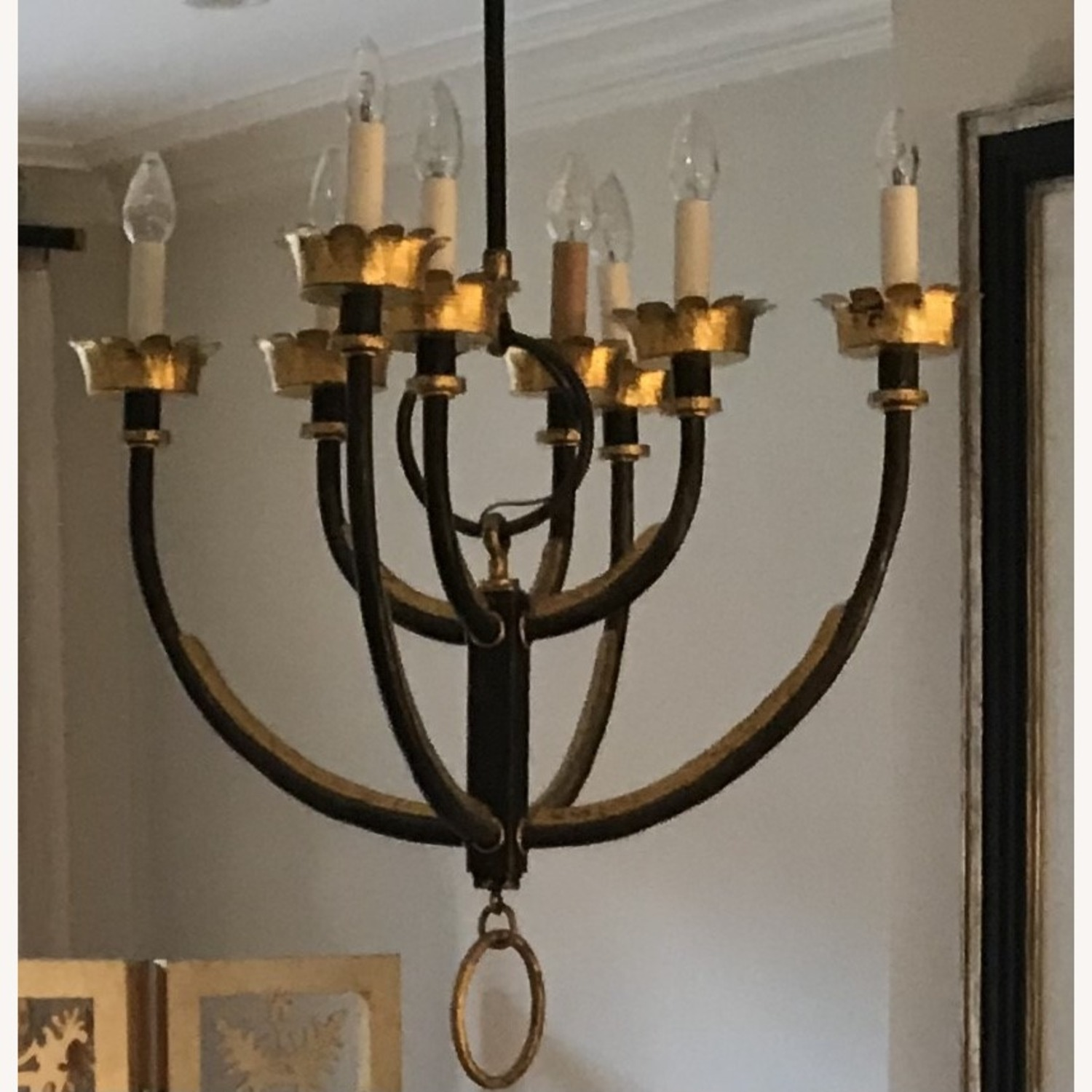 Mattaliano Hand Forged Wrought Iron Chandelier - image-6
