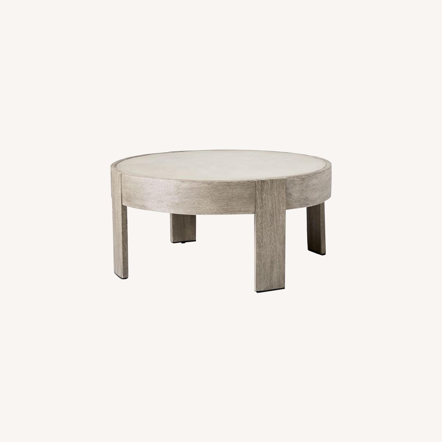 West Elm Portside Outdoor Concrete Coffee Table - image-0