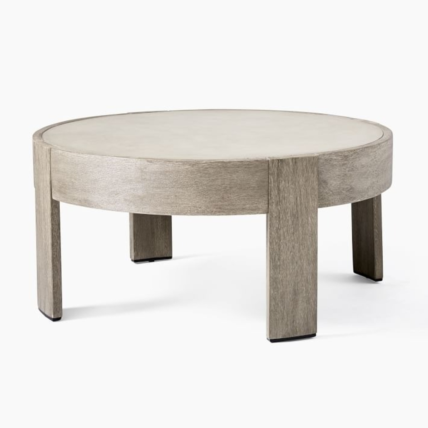 West Elm Portside Outdoor Concrete Coffee Table - image-1
