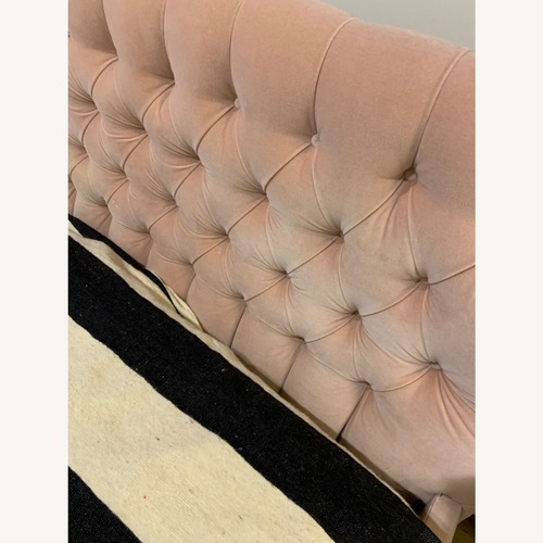 Used ABC Carpet and Home Pink Velvet King Bed for sale on AptDeco