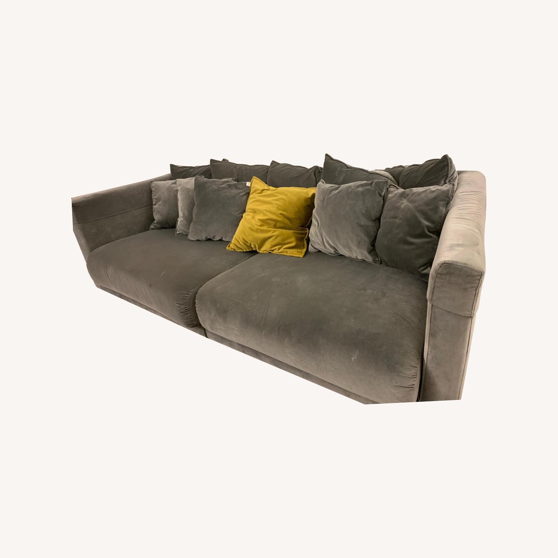IKEA Velvet Dark Grey Sofa - image-0