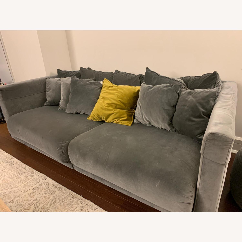IKEA Velvet Dark Grey Sofa - image-2