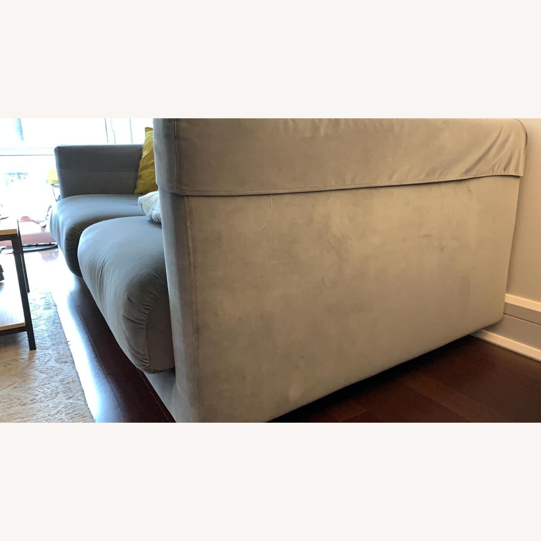 IKEA Velvet Dark Grey Sofa - image-3