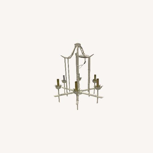 Used Faux Bamboo Chandelier - 6 lights for sale on AptDeco