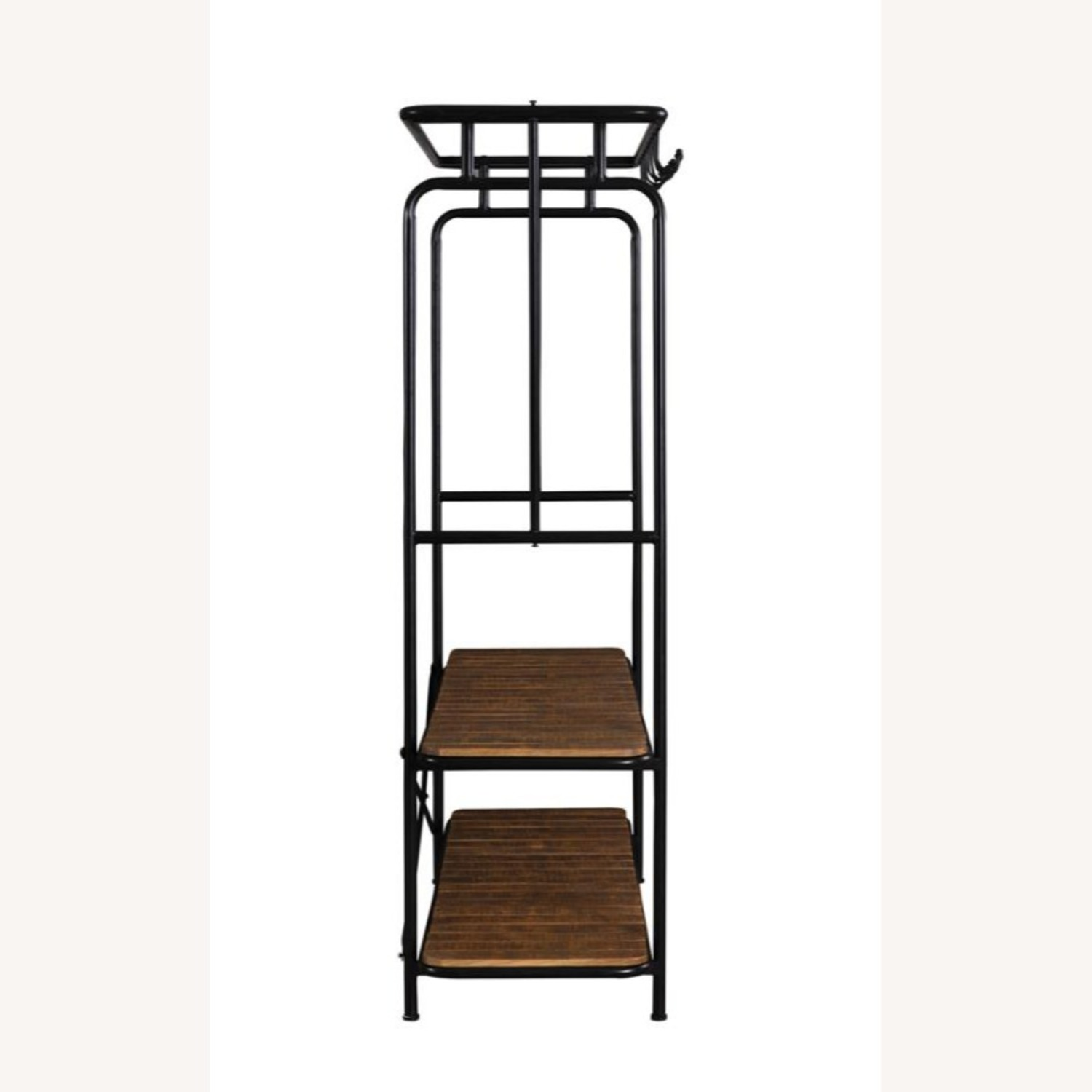 2-In-1 Clothes & Shoe Rack In Tobacco Finish - image-2